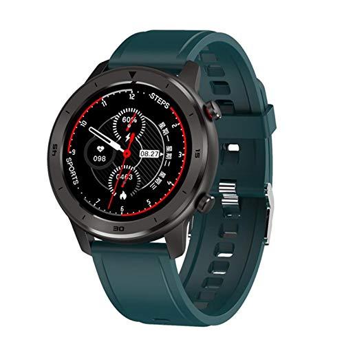 LDJ DT78 - Reloj inteligente para hombre y mujer, 1,3 pulgadas, pantalla táctil completa, podómetro, monitor de frecuencia cardíaca, pulsera inteligente para Android iOS, C