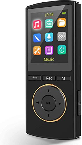 MP3 Player,Musboy 64GB Music Player Support Up to 128GB,Support 1600 Songs,1800 Minutes of Playtime,Portable Media Player with FM Radio,Vioce Receord,E-Book Reader,HiFi Sound,1.25 oz for Running