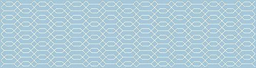 VINILIKO, Alfombra de vinilo, Hexágono, Azul, 80x300 cm