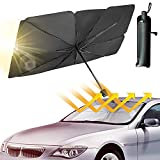 YOHIA Car Windshield Sun Shade Umbrella Collapsible , Foldable Car Sunshade for Car Front Window /Auto Windshield Covers, Fit Most Vehicle