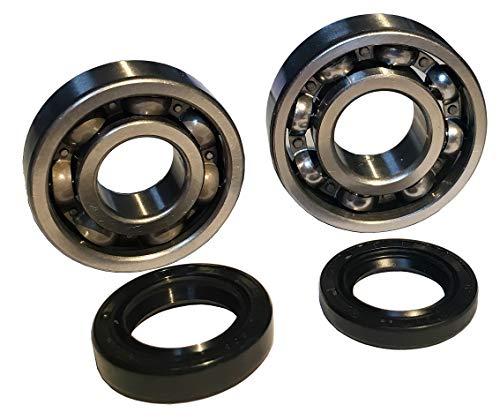 Cojinete de cigüeñal C3 con anillos de sellado de eje, diámetro de 20 mm, para Minarelli AM6 Yamaha DT50