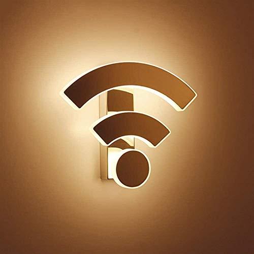 Acryl 11 W LED Wandleuchte Metall Saugnapf Kreative WiFi-Form Design Wandleuchte Moderne Wandlampe für Innen Badezimmer Schlafzimmer Restaurant Dekoration Beleuchtungskörper Ø26 cm