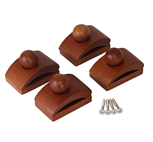 Classy Clamps Wooden Quilt Hangers – 4 Small Clips (Dark) and Screws for Wall Hangings. Hang up and Display Quilts, Tapestries, Rugs, Fiber Art, and More!
