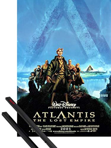 1art1 Atlantide, l'empire Perdu Poster (98x68 cm) l'empire Perdu Et Kit De Fixation Noir