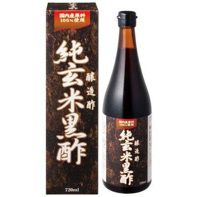 オリヒロ 純玄米黒酢 720ml【2個セット】