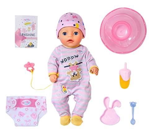 Zapf Creation 831960 BABY born Soft Touch Little Girl 36 cm - Puppe mit 7 lebensechten Funktionen und Zubehör, weiche Soft-Touch-Oberfläche