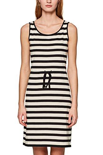 edc by ESPRIT Damen 049CC1E022 Kleid, Weiß (Off White 110), X-Small (Herstellergröße: XS)