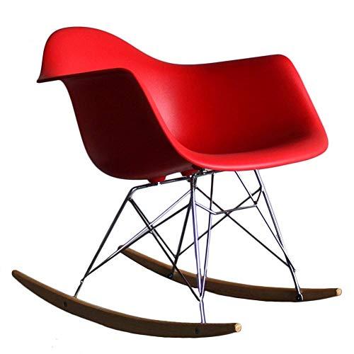 QTQZDD schommelstoel multifunctionele stalen bank poten PP kunststof zitting met armleuningen comfortabele montage, 8 kleuren (kleur: laag, afmetingen: 35x69x70cm) 7 7