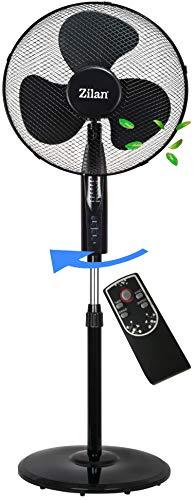 Standventilator 50 Watt Ø 41cm   Fernbedienung   Oszillierender Ventilator   4H Timer   Windmaschine   Klimagerät   Turmventilator   Ventilator leise   Bodenventilator   Luftkühler  