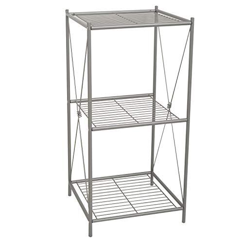 Zenna Home 2557NN Cross Style Floor Stand, Satin Nickel