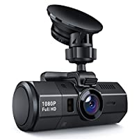 Crosstour Dash Cam 1080P FHD DVR Car Dashboard Camera Video Recorder for Cars Super Night Vision, 170? Wide Angle, HDR, Time Lapse, Motion Detection, Loop Recording and G-Sensor from Crosstour