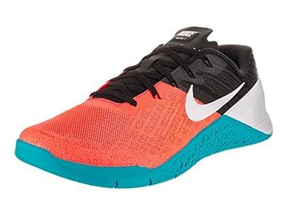 Nike Metcon 3 Hyper Orange/White/Black/Chlorine Blue Men's Cross Training Shoes