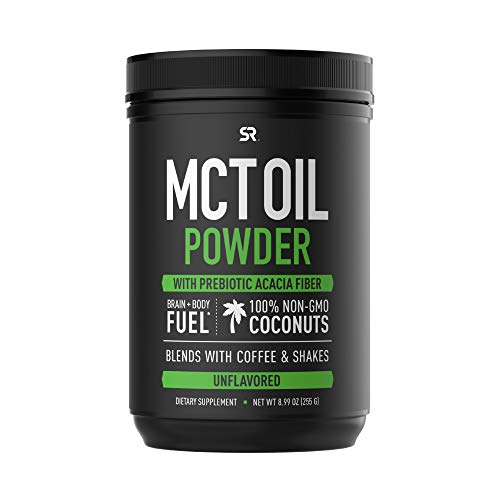 Mct Oil Powder Made from Coconut - Keto Certified with Zero Net Carbs - Great in Coffee, Shakes & More! (Unflavored)