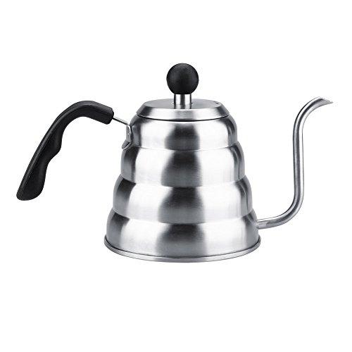 Theepot, 1,2 l 304 roestvrijstalen gietkoffie zwanenhalsketel voor thuiscafé
