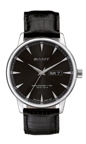 GANT Herren-Armbanduhr XL Analog Quarz Leder W10701