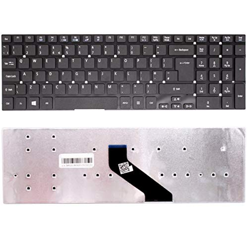 Wikiparts* NEW UK LAYOUT KEYBOARD REPLACEMENT FOR ACER ASPIRE E5-521G E5-551 E5-521 E5-571 E5-511 V3-571 LAPTOP BLACK KEYBOARD