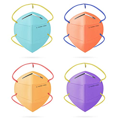Nasher Miles N95 (Pack of 4) 5-layer Color Face Mask, Reusable,Washable, Head Strapped, SITRA/CE/ISO Approved, Anti Pollution, Anti-Dust N95 Mask