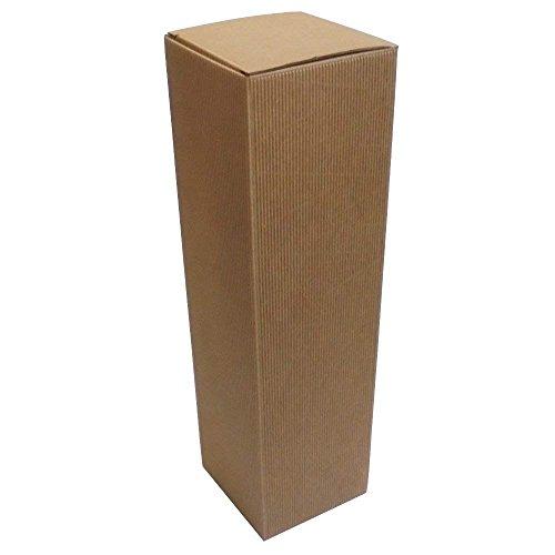 IMBALLAGGI ALIMENTARI PZ 20 Scatola Porta Bottiglie (1 Bottiglia) in Cartone Ondulato Box for Bottles Busta in Carta