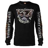 Harley-Davidson Men's Black Long-Sleeve Eagle Graphic T-Shirt - Kadena Air Base | Eagle Ride 3X