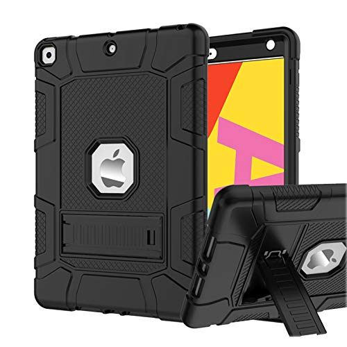 Rantice Case for iPad 7th/8th Generation iPad 102 Case Hybrid Shockproof Rugged Drop Protection Cover Built with Kickstand for iPad 102 Inch 7th/8th Generation 2019/2020 Release Black