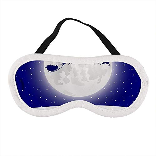 Tragbare Augenmaske für Männer und Frauen, Rentier im Geschirr mit Schlitten, Weihnachtsmann, die beste Schlafmaske für Reisen, Nickerchen, gibt Ihnen die beste Schlafumgebung