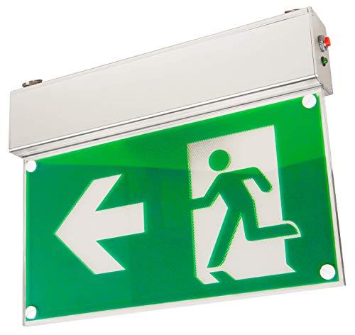 McShine - LED Fluchtwegleuchte | FL-460 | IP20 | Exit Schild 230V | Notausgangsschild zur Deckenmontage mit Kette