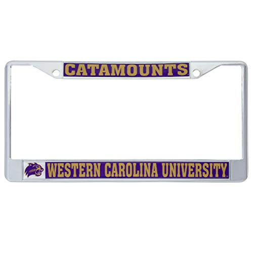 Western Carolina University WCU Catamounts NCAA Metal License Plate Frame for Front or Back of Car Officially Licensed (Mascot) C