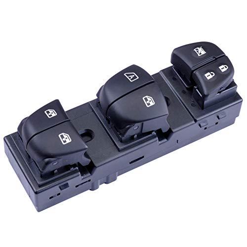 7 Interruptor de Ventana eléctrica LED para Nissan Qashqai J11 / Altima/Sylphy/Tiida/X-Trail/Sentra Leaf Juke Rogue Navara Retroiluminación (Color : 5 LED)