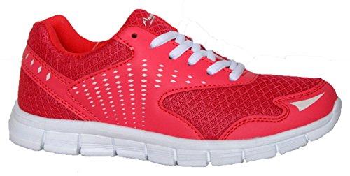 Scarpe da ginnastica/passeggio TRAIL2 estive da donna,morbide, leggere, confortevoli, con lacci, rosa