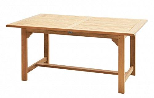 Ploß Ploß Teakholz-Tisch Pasadena - Premium Gartentisch mit FSC-Zertifikat - Terrassentisch aus hochwertigem Naturholz - Esstisch in Braun für 4 Personen - Teak-Gartenmöbel mit polierter Oberfläche