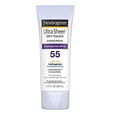 Neutrogena Ultra Sheer Dry-Touch Sunblock, SPF 55, 3 Ounces (Pack of 2)