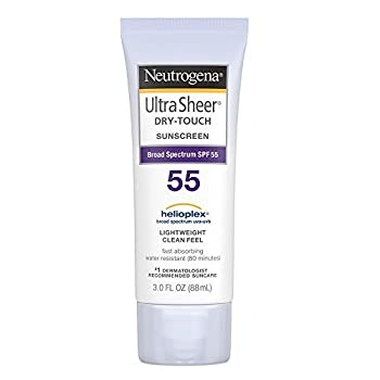 Neutrogena Ultra Sheer Dry-Touch Water Resistant and Non-Greasy Sunscreen Lotion with Broad Spectrum SPF 55 3 fl oz  Pack of 2