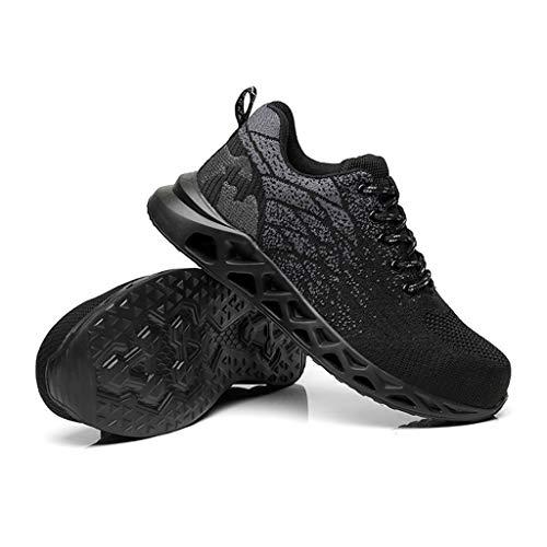 ZYFXZ Zapatos de Seguridad Zapatos de Seguro Laboral Hombres Mujeres Cuatro Estaciones Flying Tejido Transpirable Montañismo Desodorante Anti-Sensacional Anti-Piercing Botas de Trabajo (Size : 41)