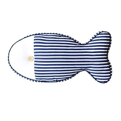 Cojines Lleno de los pescados rayados almohadilla del amortiguador de la cintura de la almohadilla del amortiguador del sofá decoración del hogar decoración de la oficina juguetes de peluche Throw reg