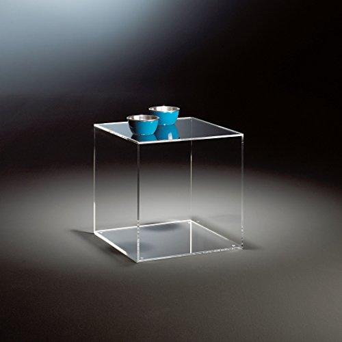HOWE-Deko Hochwertiger Acryl-Glas Würfel, klar, 35 x 35 cm, H 35 cm, Acryl-Glas-Stärke 8 mm