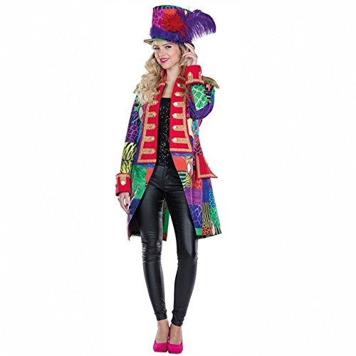 Damen Patchwork Frack Gr. 36 bunt Fasching Jacke Karneval Garde