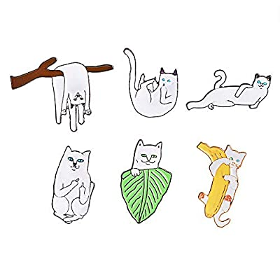 Cat Enamel Brooches Pin for Womens Girls Childrens Backpacks Jackets Clothes Bags Cartoon Badge Lapel