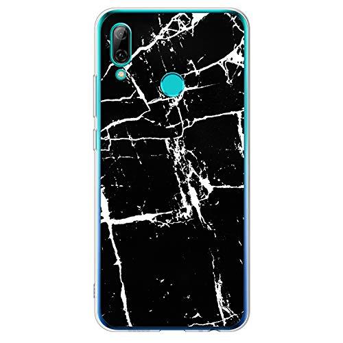 SOONSOP Handyhülle für Huawei Honor 10 Lite Hülle Silikon Buntes Stoßfest Tasche Cover Shell TPU Cover Schutzhülle [3 Stück] Handytasche Softcase Handycover Rückhülle in Marmor - 3