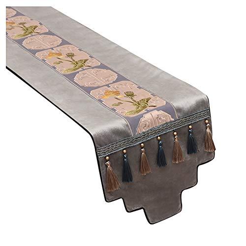 WXIAO geborduurd tafel loper machine wasbaar elegante duurzame tafel Placemats Trendy flanel outdoor picknicks dressoir loper