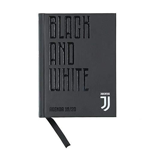Diario Scuola Agenda Juventus Black And White 16 Mesi Datato 2019/2020 18x13 cm + Penna Colorata Omaggio