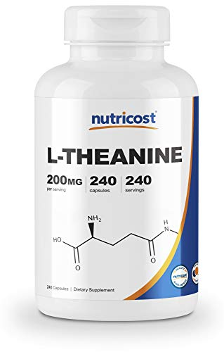 Nutricost L-Theanine 200mg, 240 Capsules - Double Strength Florida