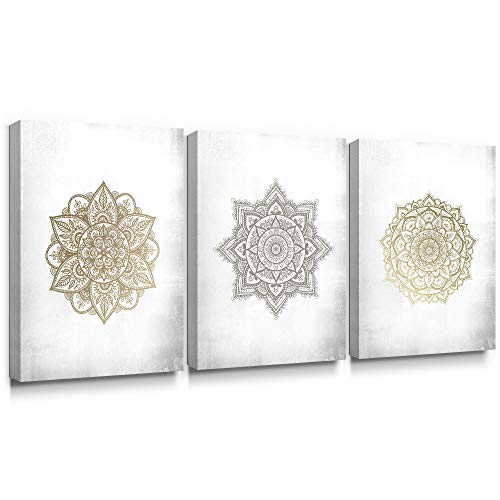 SUMGAR Mandala - Impresión artística sobre Lienzo, diseño de Bohemi