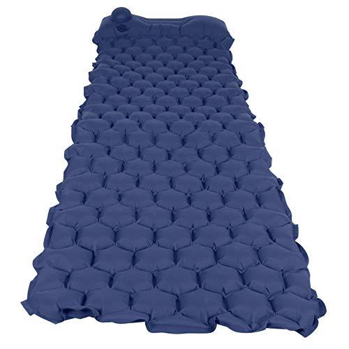 Aoutecen Tela de Nailon 40D Almohadilla para Acampar Colchoneta de Aire Colchoneta para Dormir Inflable Portátil Durable Cama para Dormir Inflable Colchón Inflable(Navy Blue)