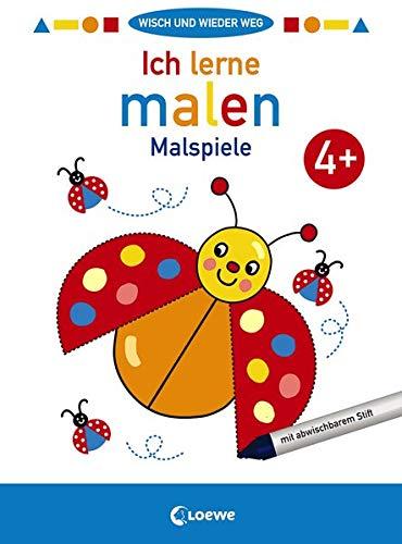 Wisch und wieder weg - Ich lerne malen 4+: Malspiele - Malbuch für Kinder ab 4 Jahre