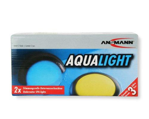 ANSMANN Aqualight LED-Unterwasserleuchte – Beleuchtung für Pool Badewanne Wellness Teich Party – Stimmungslicht wasserfest schwimmfähig (2er Pack) - 3