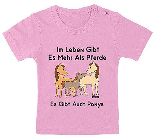 Hariz - Camiseta de manga corta para bebé, diseño con texto en alemán Algodón de azúcar rosa. Talla:3-9 Monate / 60-69cm