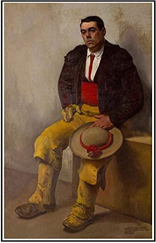SXXRZA Cuadros de Pared 40x60cm Sin Marco Diego Rivera 《El Picador》 Lienzos de Pintura Carteles e Impresiones Cuadros de Arte de Pared para la decoración del hogar de la Sala de Estar