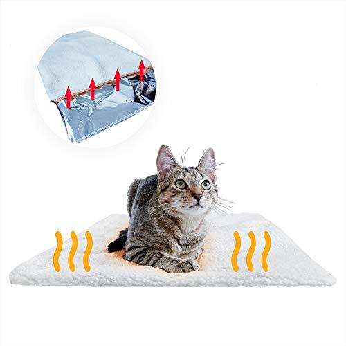 PiuPet® Coperta autoriscaldante per gatti e cani, Dimensioni: 60x45 cm, Senza elettricità e batterie, Tappetino riscaldante innovativo ed ecologico