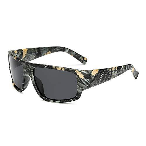 FJCY Gafas de Sol polarizadas Gafas de Sol paraHombre Gafas de Sol Retro de Camuflaje Deportivo Hombres Mujeres-6-Kp1028-C1