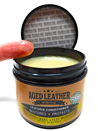 All Natural Beeswax Leather Conditioner Recommended by Pros for Genuine Leather to Protect, Soften & Restore | 6 oz